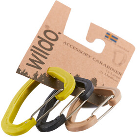 Wildo Accessory Carabiner - Set of Three 2xM 1xL Multicolore